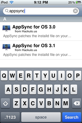 Type appsync into the search results and click on the AppSync the corresponds to the Firmware Version you are Running as of Now.
