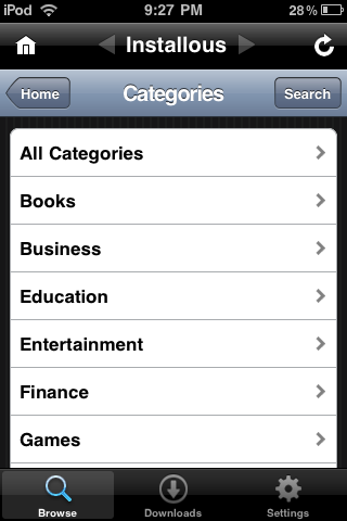 These are the App Categories in which you can choose from in install0us.