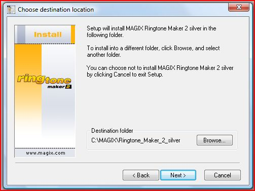 Choose the installation path (Default C:/ Drive recommended) and press the Next Button.