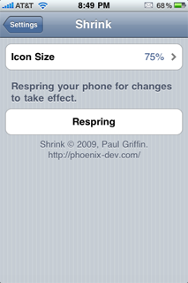 Shrink cydia tweak