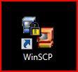 Double click the WinSCP.exe shortcut