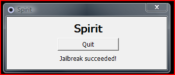 Once you click the jailbreak button you will get a jailbreak succeeded confirmation message