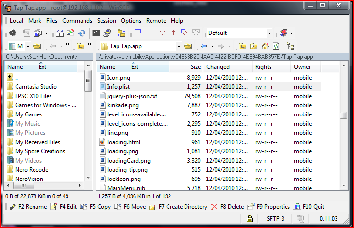 Locate the info.plist file and drag it to your desktop