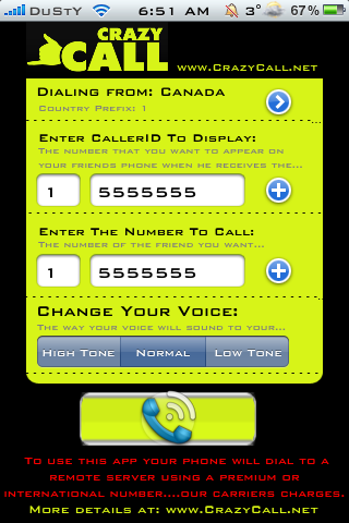 Crazycall Change Voice And Caller Id On Iphone Prank Friends