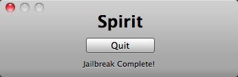 Spirit jailbreak tool
