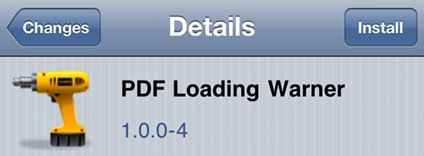 PDF-Warning-Loader