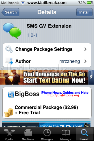 SMS GV Extension Cydia Tweak