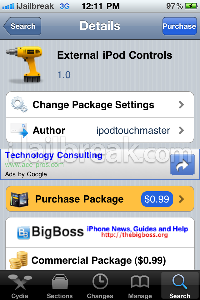 External iPod Controls Cydia Tweak