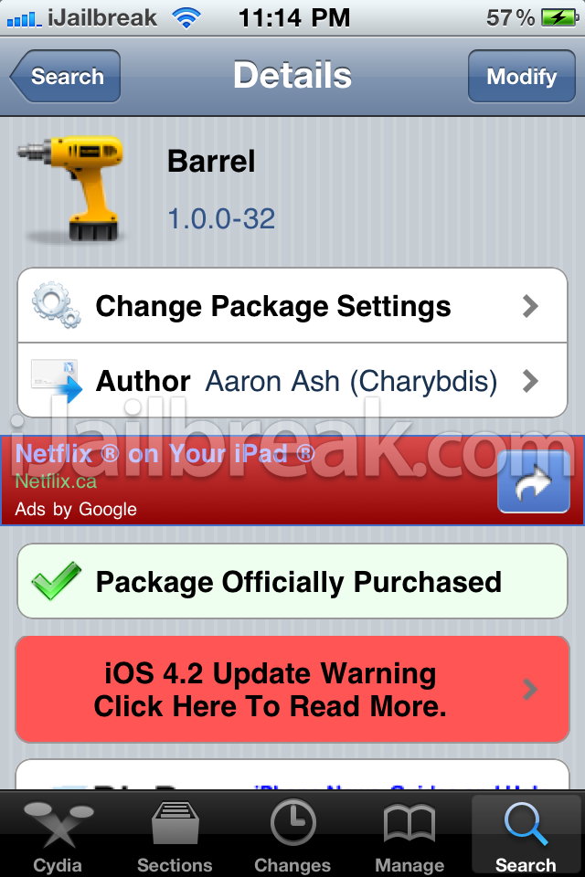 Barrel Cydia Tweak