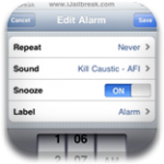 PlayAwake – Play iPod Music As Alarm Clock Sound