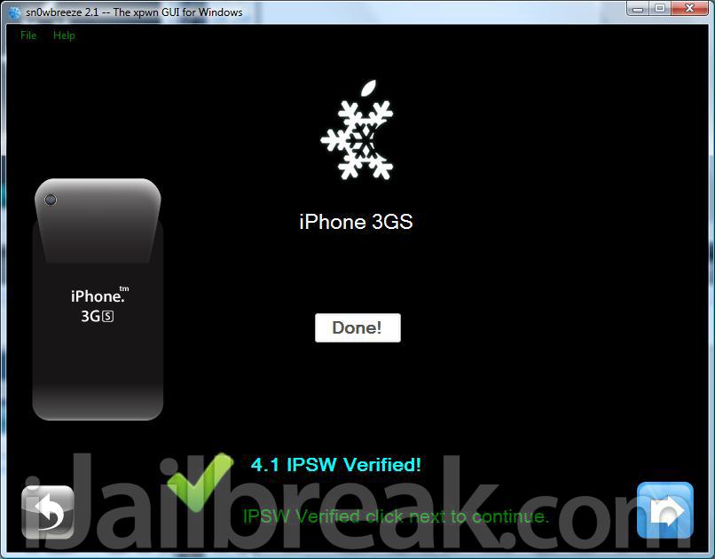 Jailbreak iPhone 4, 3GS, iPad, iPod With Sn0wBreeze 2.1 iOS 4.1, 3.2.2 Windows