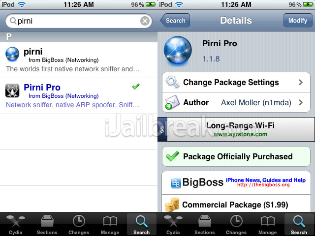 How To Network Hack With Pirni Pro On iPhone, iPad, iPod Touch