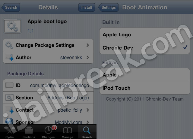 How To Apply Custom BootLogos To iPhone, iPad, iPod Touch [CYDIA]
