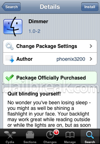 dimmer tweak iJB
