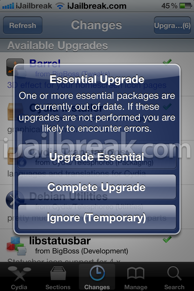 How to installupgrade to cydia 1.1
