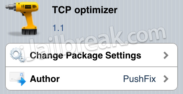 TCP Optimizer Cydia Tweak