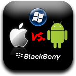 iPhone iOS 5 VS Android Gingerbread, WP7 Mango And BlackBerry 7