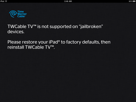 How To Bypass Time Warner Cable App Jailbreak Restriction