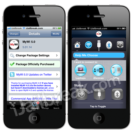 MyWi 5.0 is available in the