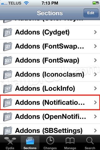 Addons Notification Center