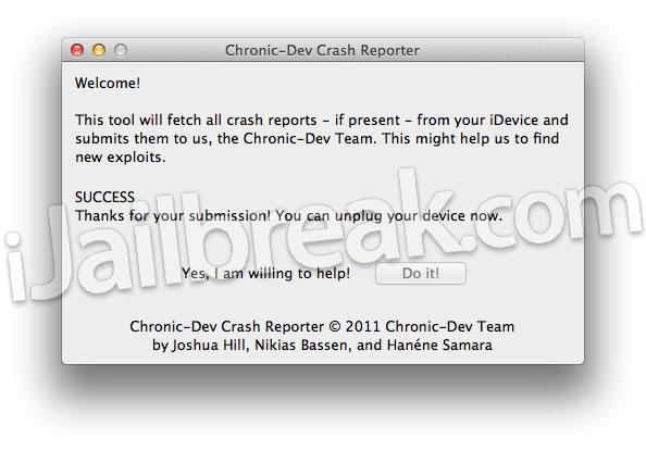 How To Use Chronic-Dev Crash Reporter On Mac OS X