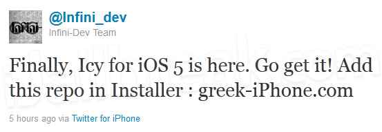 Download Icy Installer For iOS 5 Firmware [Cydia Alternative]