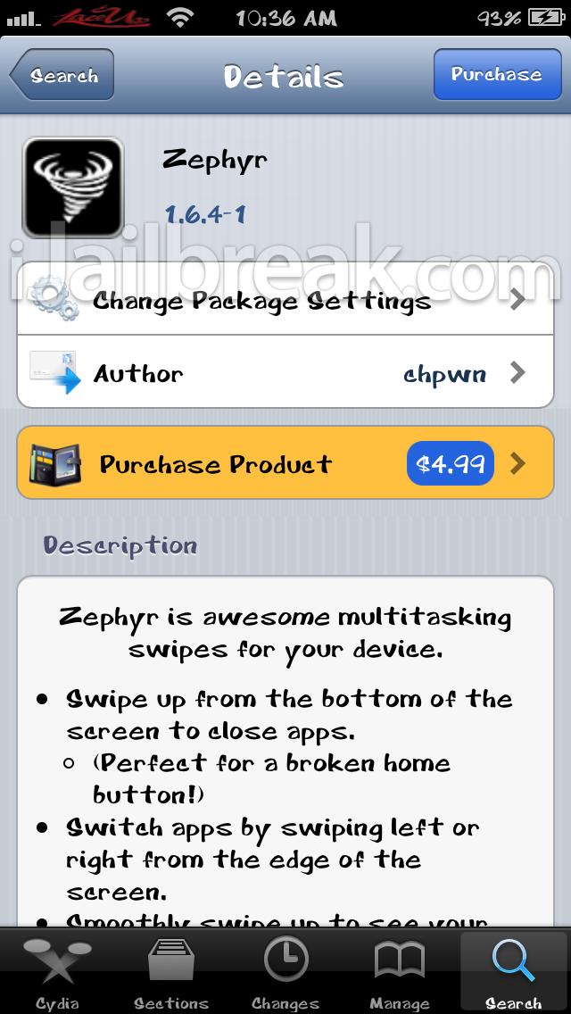 Zephyr Cydia Tweak-iJailbreak