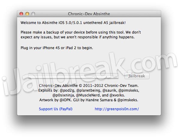 Jailbreak iPhone 4S On iOS 5 0, 5 0 1 With Absinthe [Mac OS X]