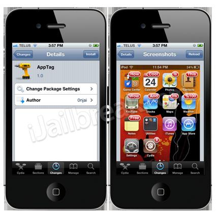 AppTag Cydia Tweak