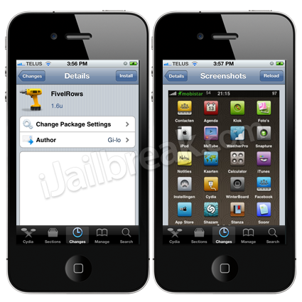 FivelRows Cydia Tweak