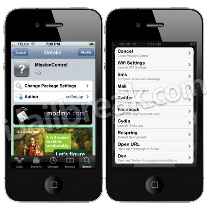 MissionControl Cydia Tweak