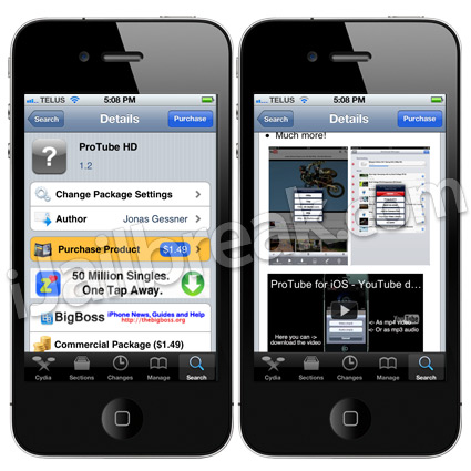 ProTube HD Cydia Tweak