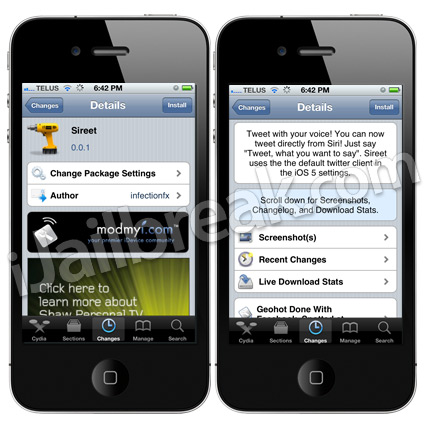 Sireet Cydia Tweak