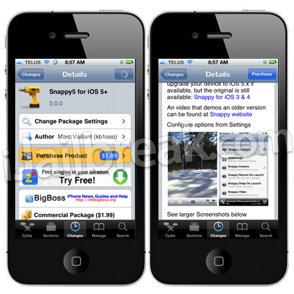 Snappy5 for iOS-5+ Cydia tweak