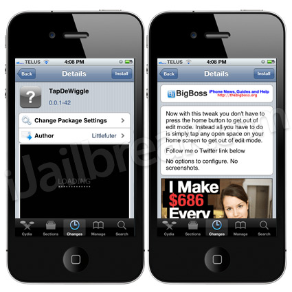 TapDeWiggle Cydia Tweak