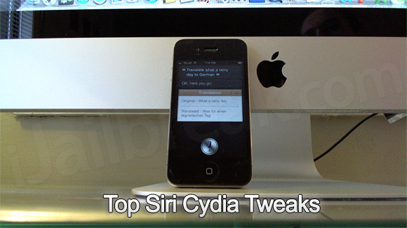 Top Siri Cydia Tweaks