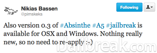 download absinthe v0.3 Mac OS X Windows