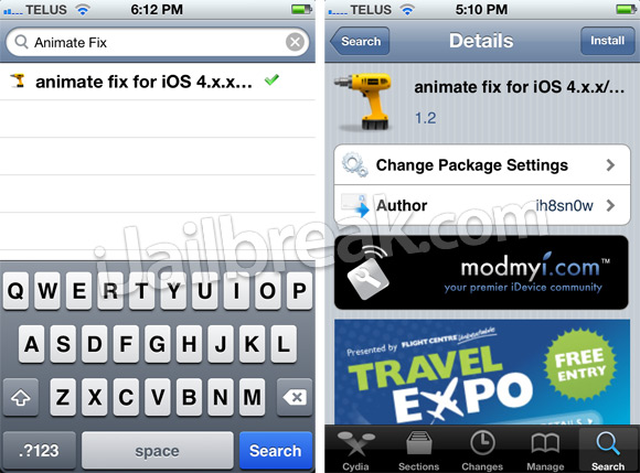 Animate Fix Cydia Tweak