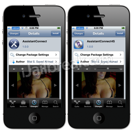 AssistantConnect Cydia Tweak