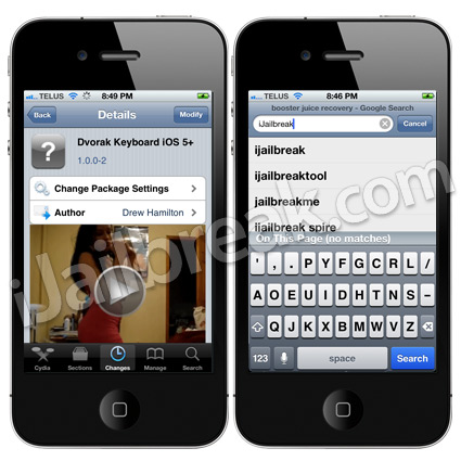 Dvorak Keyboard iOS 5+ Cydia Tweak