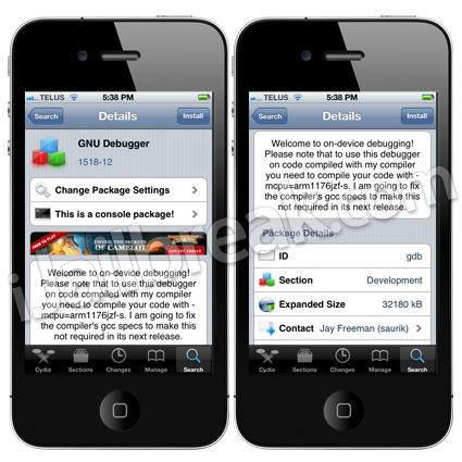 GNU Debugger (GDB) iOS 5