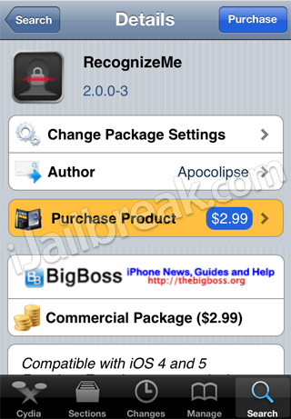RecognizeMe 2.0 Cydia Tweak