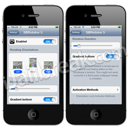 SBRotator 5 Cydia Tweak
