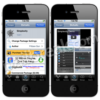 Simplexity Cydia Tweak