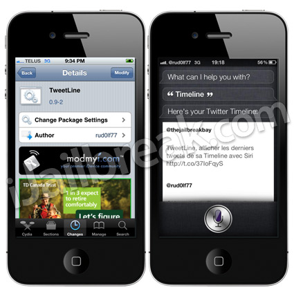 TweetLine Cydia Tweak