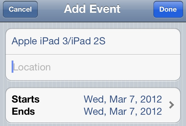 iPad 3 Event