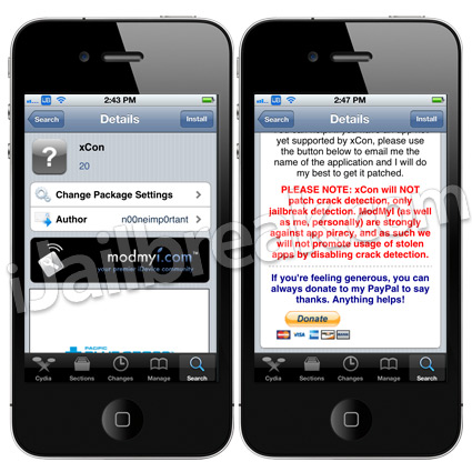 xCon Cydia Tweak v20