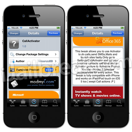 CallActivator Cydia Tweak