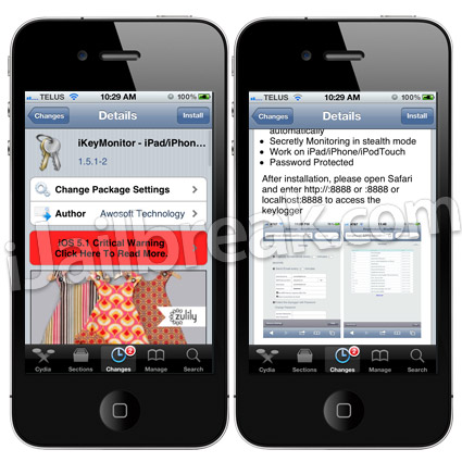 iKeyMonitor Cydia Tweak