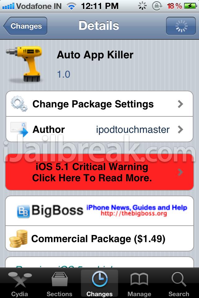 Auto App Killer Cydia Tweak: Kill Apps To Save RAM On iPhone
